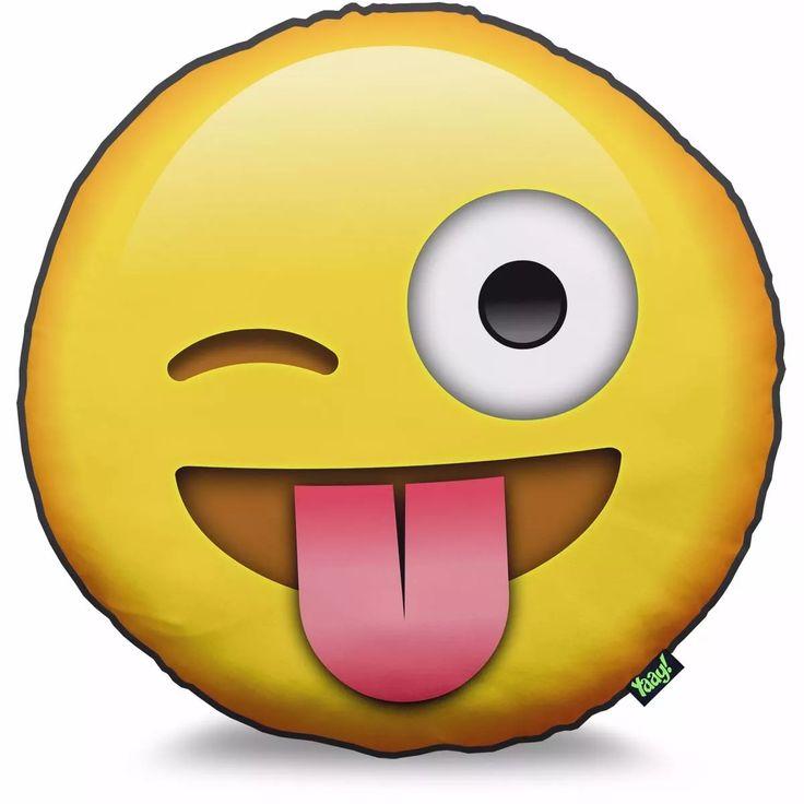 Almofada Emoticon Emoji Língua Grande 40x40cm Whatsapp Face - R$ 39,99 em Mercado Livre