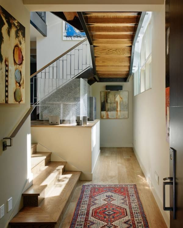 love the exposed stairs!