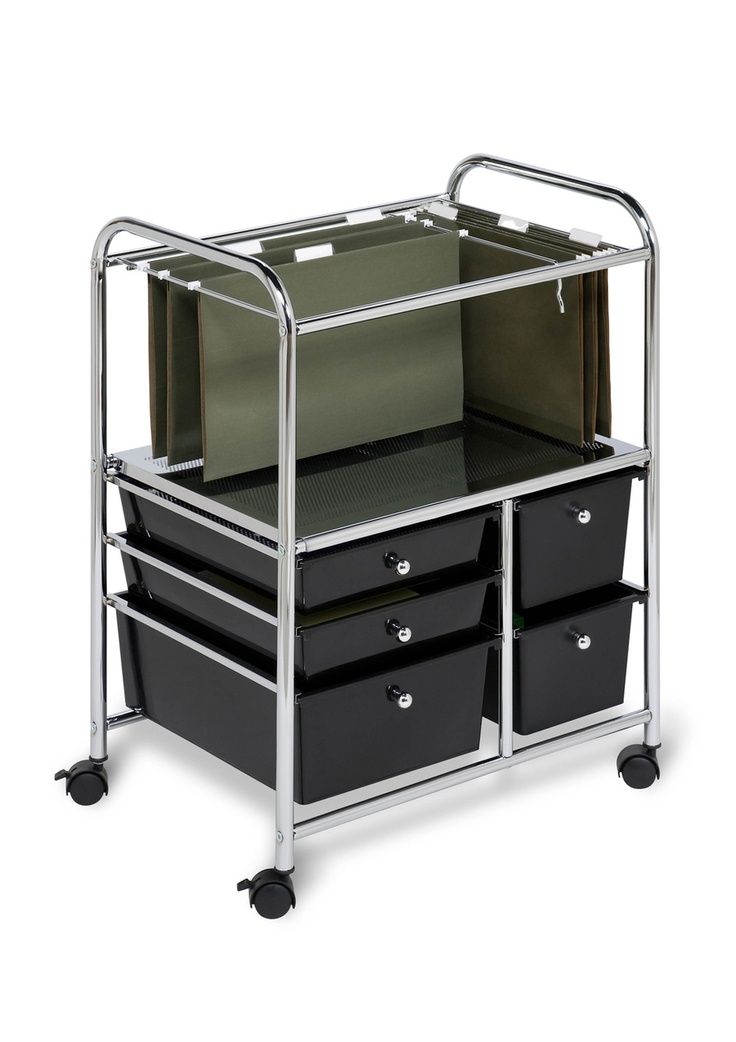 Portable File Cart With Drawers For A Portable Office...love It!