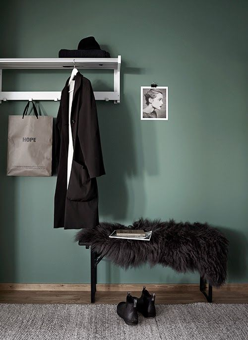 #trend #green #wall #interior