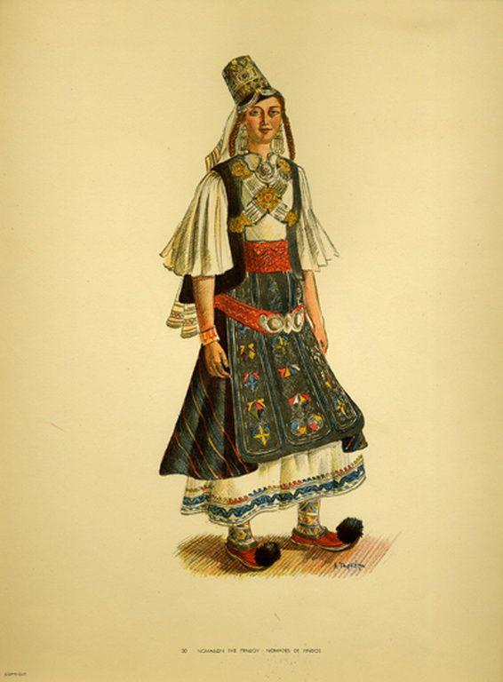 Φορεσιά Νομάδων της Πίνδου. Costume from Nomades de Pindos. Collection Peloponnesian Folklore Foundation, Nafplion. All rights reserved.
