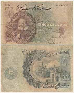 5 escudos, 1921