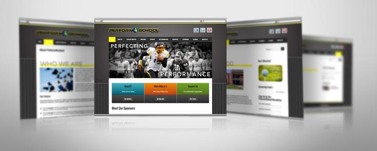 Perform 4 School Non-Profit Sports Wordpress Website - BMays Graphic Design
