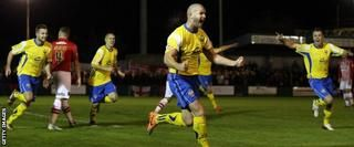 Warrington Town 1-0 Exeter City - BBC Sport
