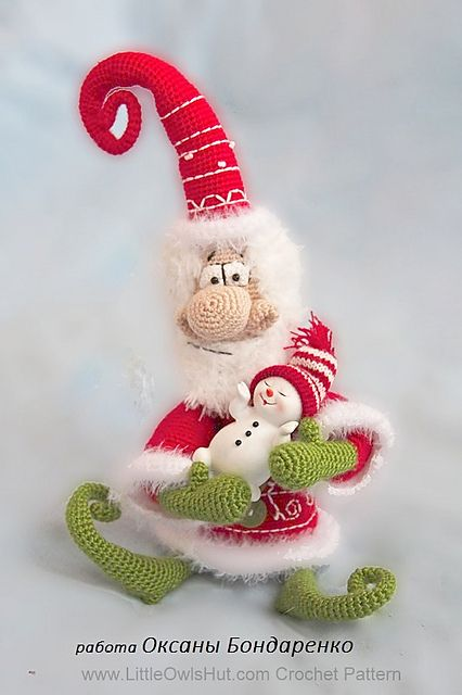 Santa Claus, Father Frost, Father Christmas toy Ravelry pattern by LittleOwlsHut