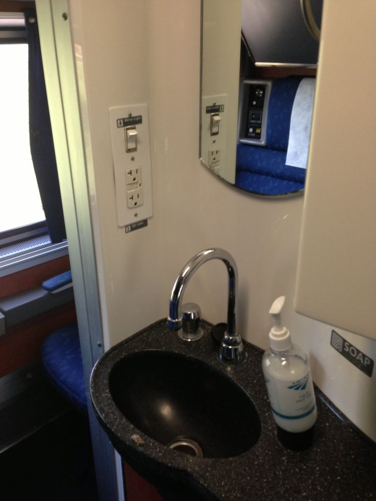 Each superliner bedroom on amtrak trains gets its own vanity sink toilet and shower first for Amtrak superliner bedroom review