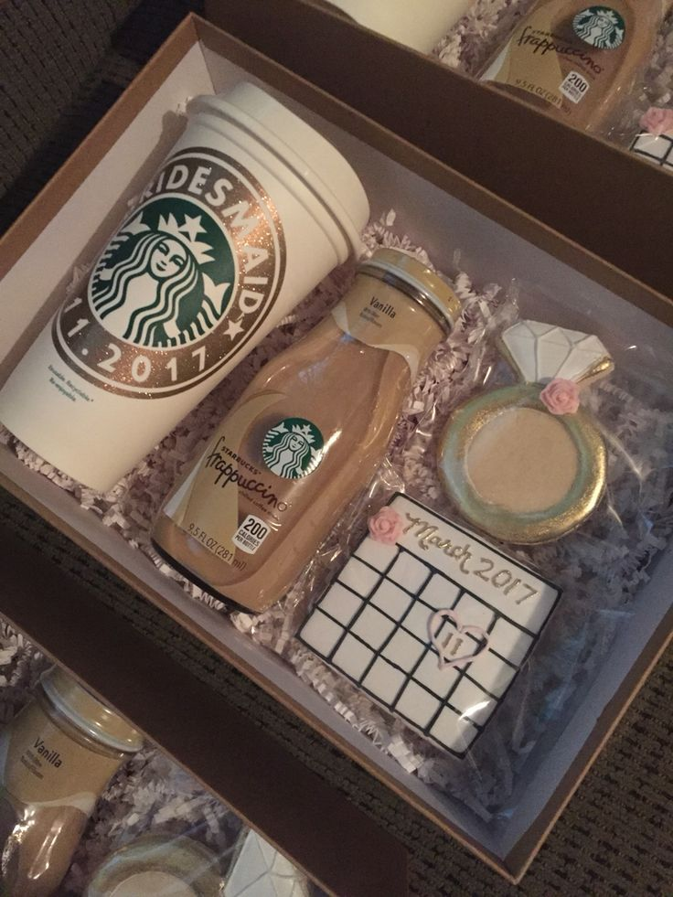 """Bridesmaids gift idea - Coffee-themed """"Will you be my bridesmaids box"""""""