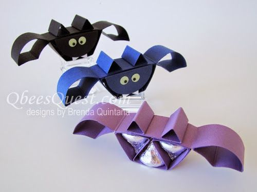 "Hershey's Bat Tutorial | Hershey's Kisses, Halloween, Favor, Simply Scored, 1-3/4"" Circle Punch, Owl Builder Punch, Bone Folder, Stampin' Up"