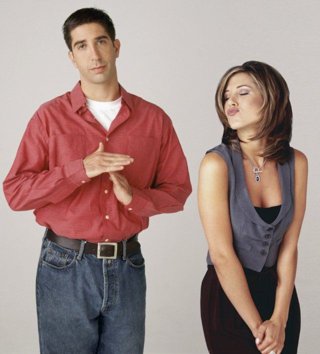 Jennifer Aniston and David Schwimmer in Friends (1994)