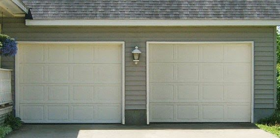 before and after garage update with windows and hardware