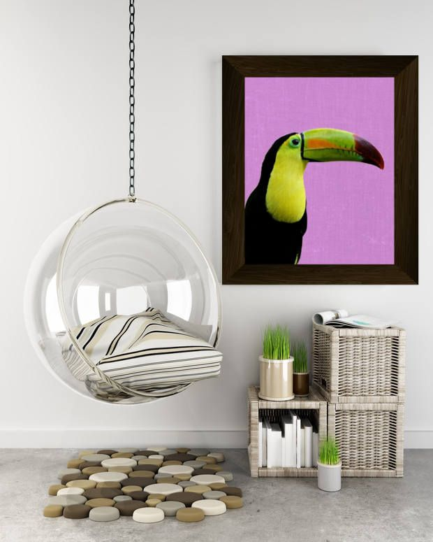 toucan art print, tropical decor, bird wall art poster, tropical photography, printable artwork, instant digital download, modern wall decor di AlemiPrints su Etsy