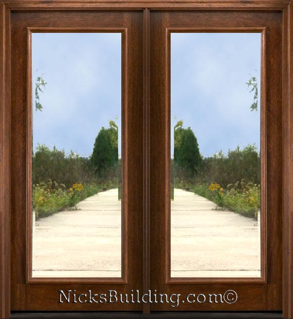 126 best front door images on pinterest entrance doors for Double entry doors with glass