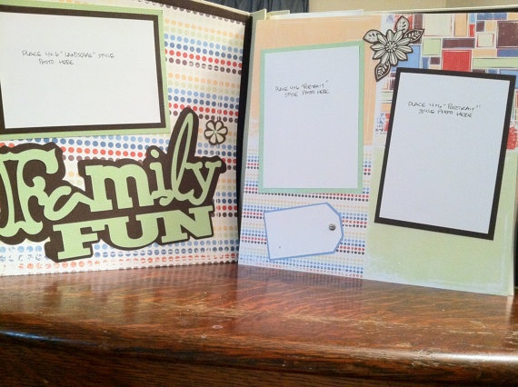 Family Fun Pre Made 12 x 12 Double Page by aSavvyScrapbooker, $10.00: Fun Pre, Families Fun, Family Fun