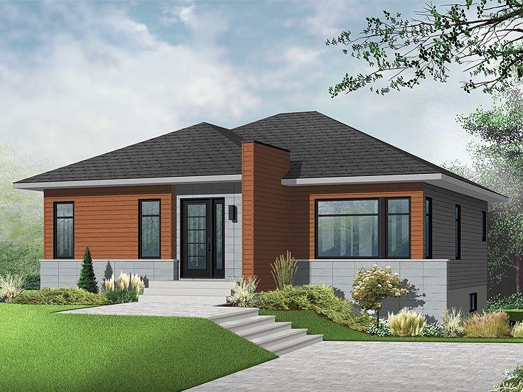 Small Modern Home Plan 027h 0317