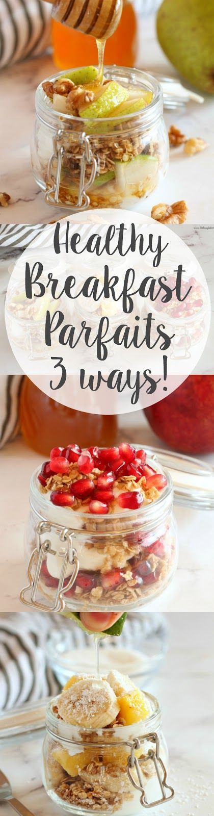 Healthy Fruit, Yogurt, and Granola Parfaits - 3 ways! AND a super delicious BASIC HOMEMADE GRANOLA recipe!! Recipes from www.thebusybaker.ca