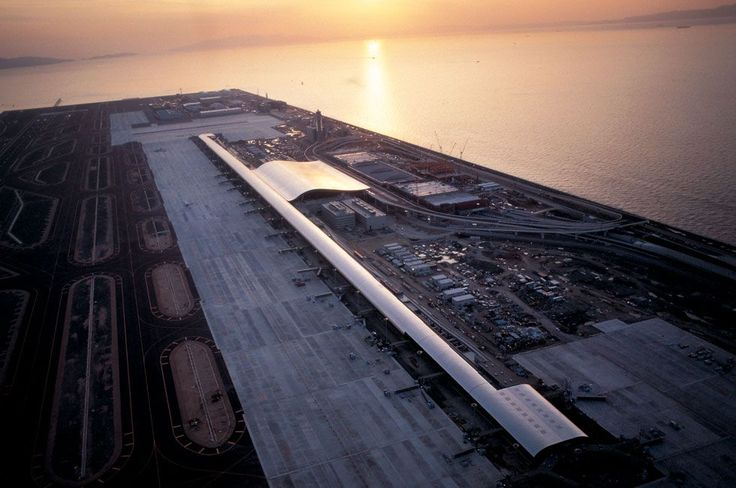 Aeropuerto Internacional de Kansai, de Renzo Piano en Osaka (Japón)
