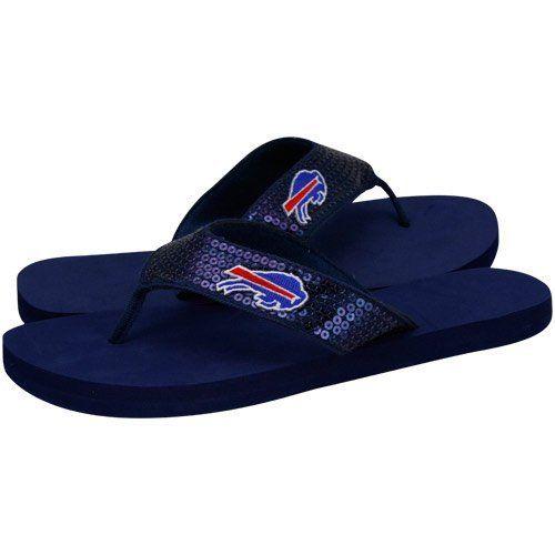 For Bare Feet Buffalo Bills Women's Sequin Flip Flips Medium by For Bare Feet. $19.95