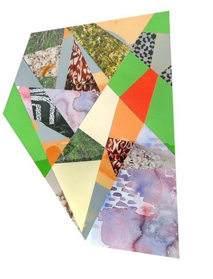 Emily Green Violet Collage Print