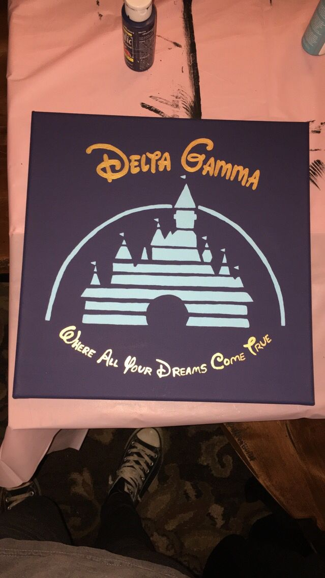 Delta gamma Disney canvas