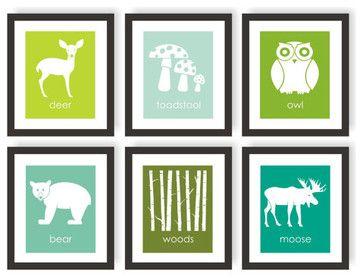 Modern nursery art modern-prints-and-posters