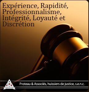 L'huissier de justice joue un rôle important. Donc c'est important de trouver un huissier qui offre un service adapté à chaque client. Moi je dirais que les caractéristiques les plus importantes d'un huissier sont l'expérience, la rapidité, et le professionnalisme.