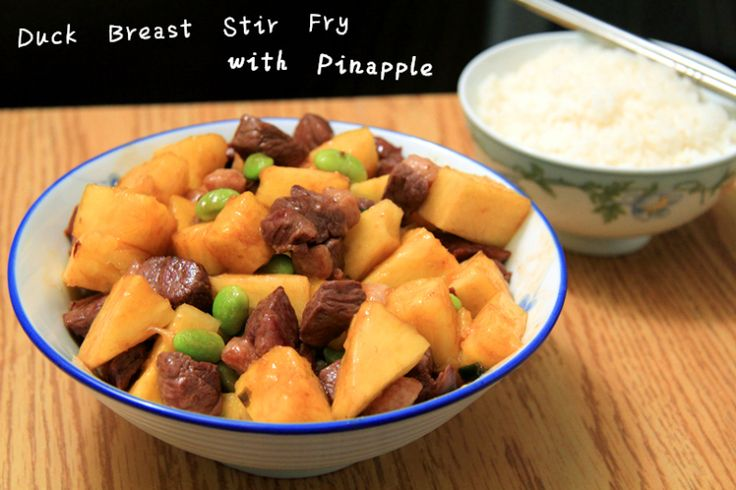 Duck Breast Stir Fry with Pineapple
