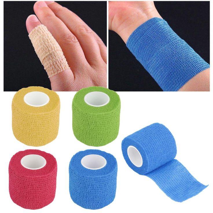5 cm * 4.5 m Własny Przylegającą Okłady Bandaż Elastyczny Klej Taśmy Pierwszej Pomocy Odcinek 5 cm hurtownie