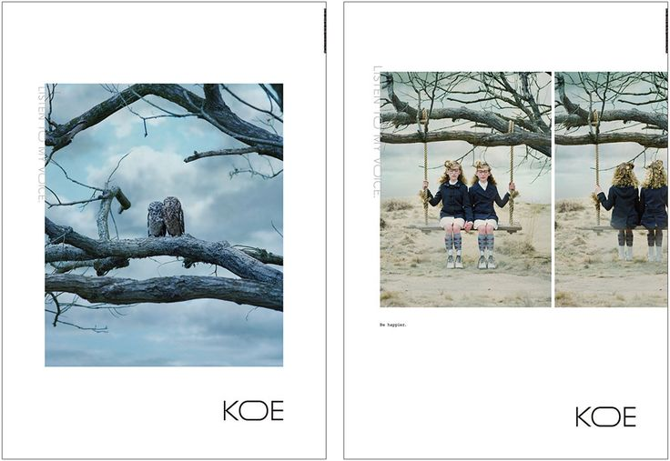 クロスカンパニーの新ブランド「KOE」、ルミネ、フェイスブック ジャパンの広告 | ブレーン 2014年12月号