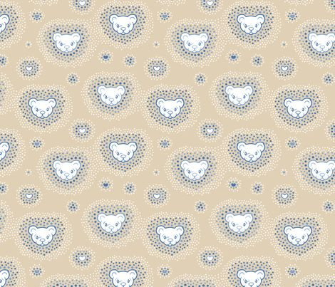 Dots meet Bear fabric by nossisel on Spoonflower - custom fabric