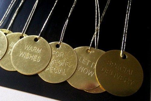 Étiquettes Greetings en métal - Dorées - Décoration Scandinave - STYLE
