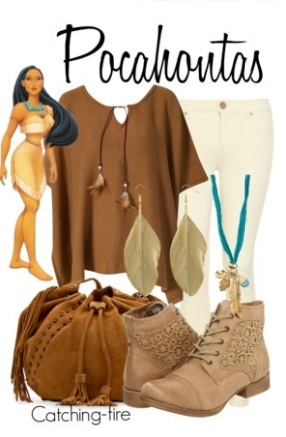 Pocahontas inspired outfit!