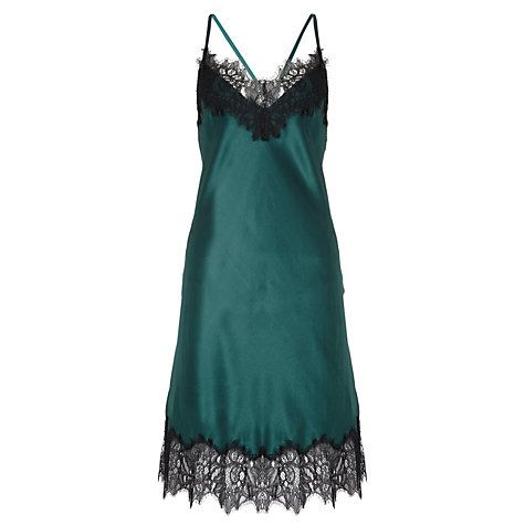 Buy Somerset by Alice Temperley Winter Floral Chemise, Emerald Online at johnlewis.com