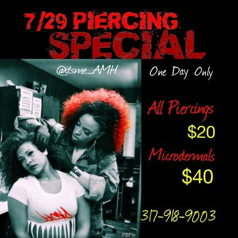 Give me a Call for quality piercing