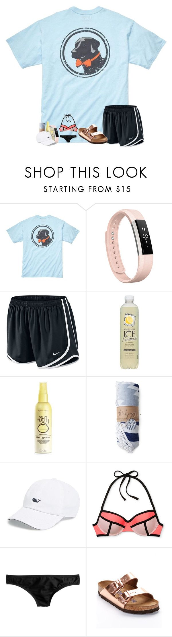 """""""Untitled #194"""" by ajgswim ❤ liked on Polyvore featuring Southern Proper, Fitbit, NIKE, Forever 21, Vineyard Vines, J.Crew, Birkenstock and AbbypjsSummerContest"""