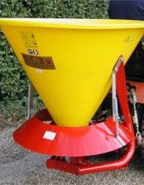 Powered fertiliser and salt spreader. The ATV spreaders can be towed or mounted on a quad bike to disperse grass seed, fertiliser onto the land to maintain the fields encouraging healthy growth. For more info: http://www.fresh-group.com/spreaders.html