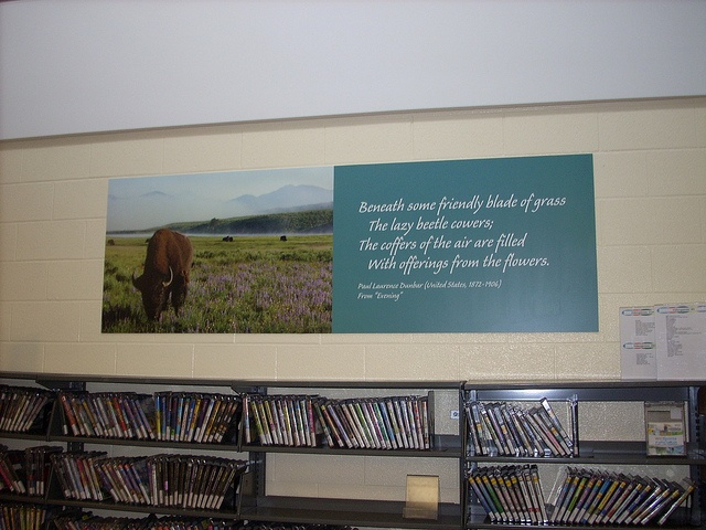 """Paul Laurence Dunbar- """"Evening""""  Poetry Installation, Brookfield Public Library"""