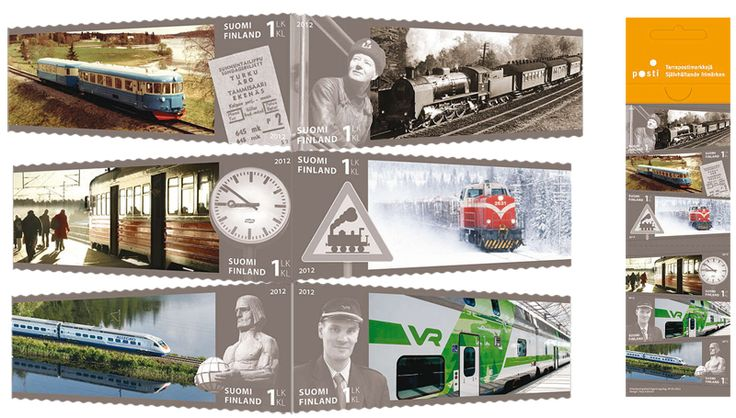 €5.10 VR 150 vuotta - kuuden (6) postimerkin vihko