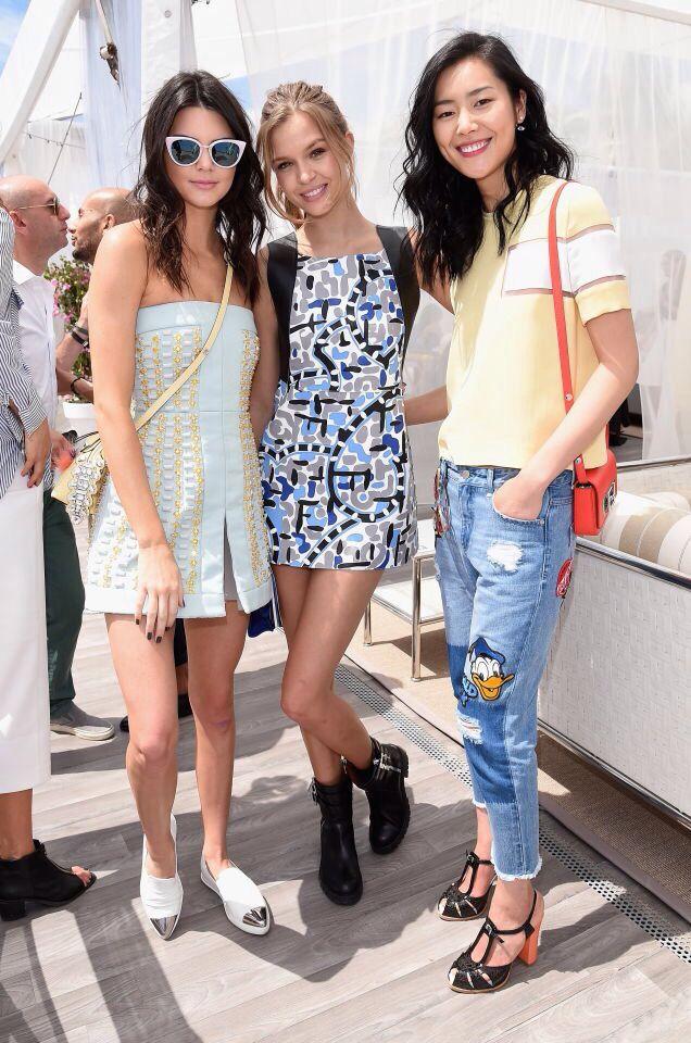 Kendall Jenner,Josephine Skriver e Liu Wen durante il 68 annuale Cannes Film Festival 21 Maggio 2015 in Cannes,Francia