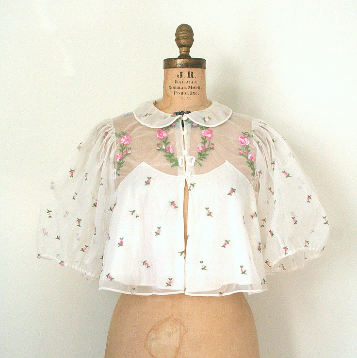 Vintage bed jacket. I have one of these, just don't know how to wear it??