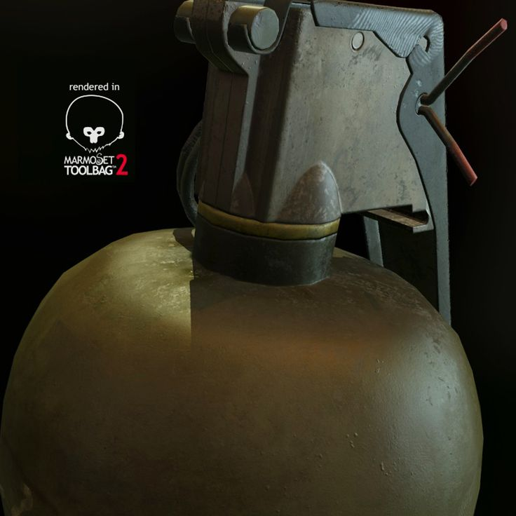 M67_Grenade , Krit Nawaritloha on ArtStation at https://www.artstation.com/artwork/EE8Ev