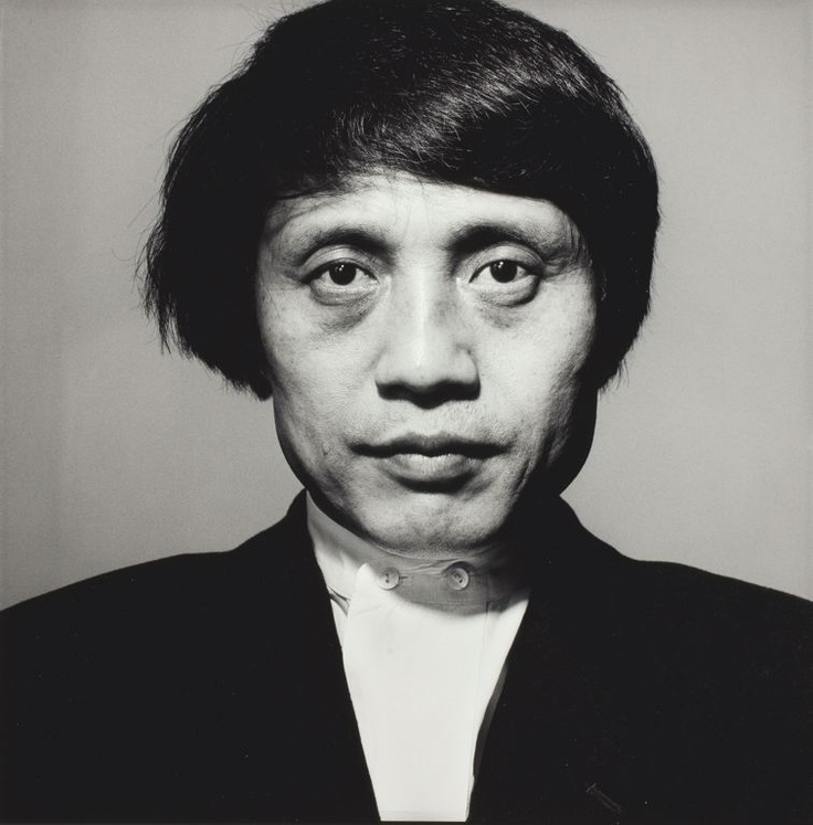 """Tadao Ando (1941) - Japanese self-taught architect approach to architecture and landscape was categorized by architectural historian Francesco Dal Co as """"critical regionalism"""". Photo by Irving Penn"""
