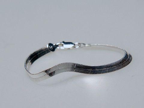 Sleek Bracelet Silver: A splendid bracelet that adds instant sophistication to any outfit. $30.00