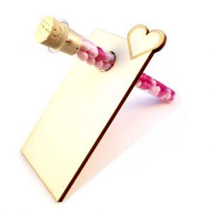 Platzkarte / Tischkarte zur Hochzeit mit Reagenzglas zum Befüllen