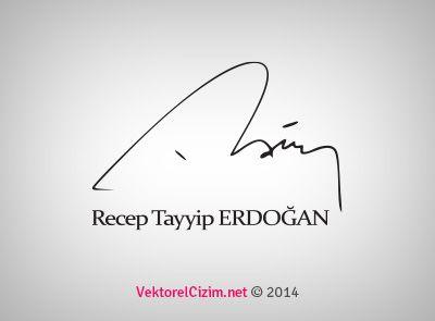 Vektörel Çizim | Cumhurbaşkanı Recep Tayyip Erdoğan İmzası