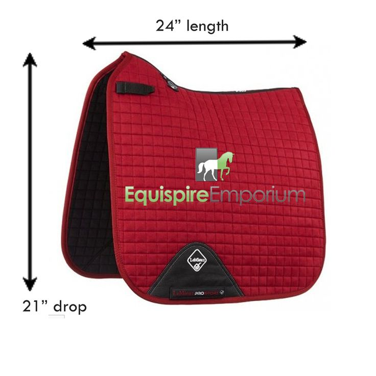 LeMieux burgendy large dressage square dimensions.