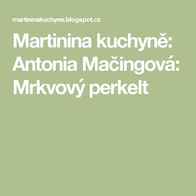 Martinina kuchyně: Antonia Mačingová: Mrkvový perkelt