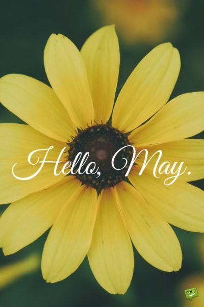 Hello, May.