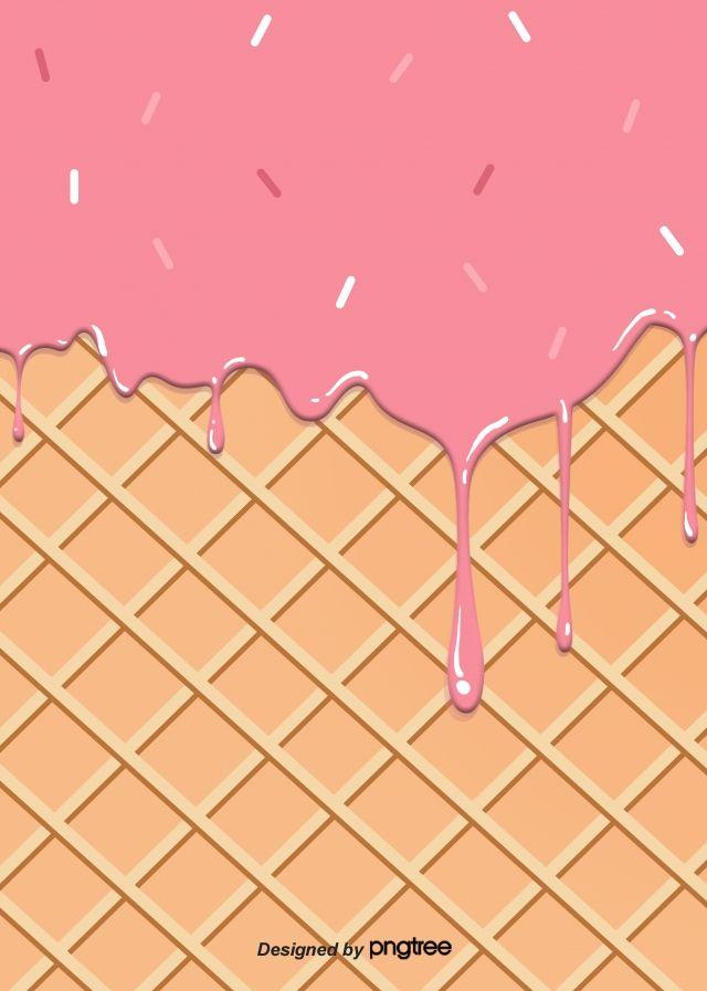 Latar Belakang Aliran Ais Krim Coklat Merah Jambu Ice Cream Poster Ice Cream Background Cake Background