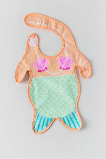 I know I'm not having a girl but how cute is this Mermaid Baby Bib??