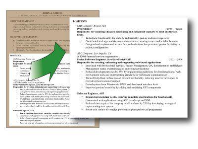 resume summary statement